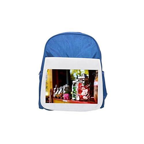 Fruit jelly, Candy, Sweet, Azul Del Corazón Impreso Kid Mochila, para mochilas, cute small Mochilas, cute negro mochila, Cool mochila negra, moda mochilas, Gran moda mochilas, color negro moda