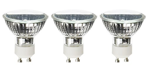 Anyray A1817Y (3)-Bulbs 20 Watt GU10 Base 20Watts BAB Halogen Flood Light Bulb 120-Volts 20W Lamps (Flood 20w Bulb)