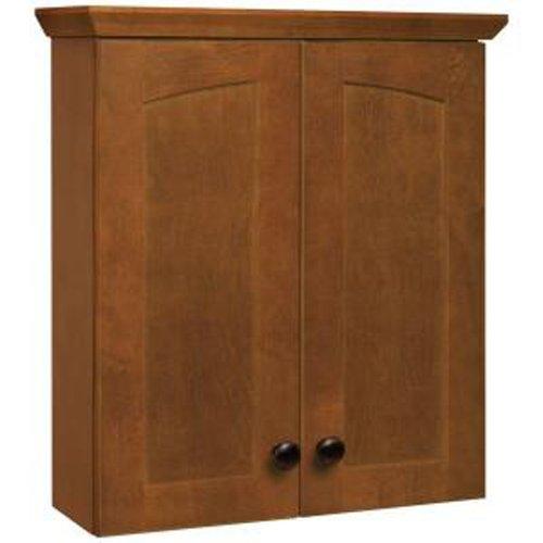 American Classics by RSI TTMELY-CHT Melborn 19-Inch Bath Storage Cabinet, Chestnut (Medium Bathroom Medicine Cabinet)