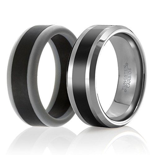 SOLEED Twins Tungsten Wedding Silicone product image