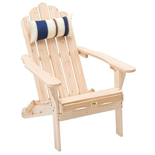 Bon Unfinished Wood Folding Adirondack Chair Outdoor Deck Chair Patio, Lawn U0026  Garden Seating Lounge Chair