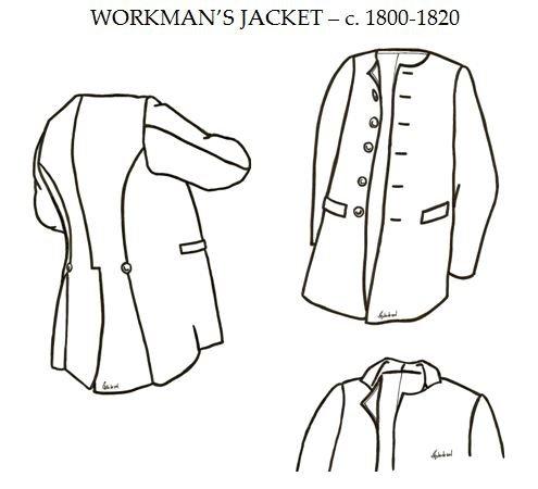 Amazon 4040 American Revolutionary War Era Men's Workmen's Magnificent Mens Coat Patterns