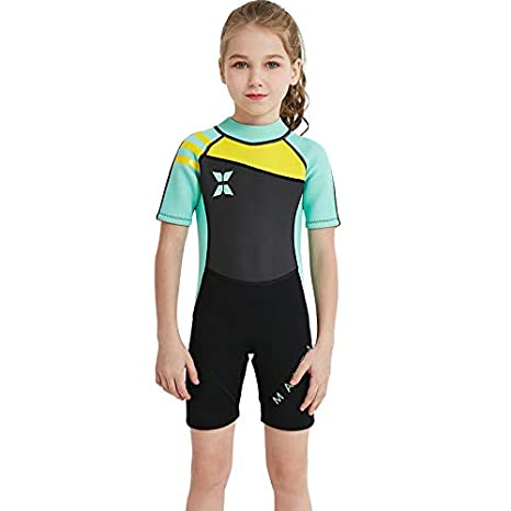 0e280be3fb DIVE & SAIL Kids Diving Surfing Snorkeling Wetsuit 2.5MM One Piece Full Body  Shorty Sleeve Swimsuit Neoprene UV Protective Rash Guard Full Suit Swimsuit  ...