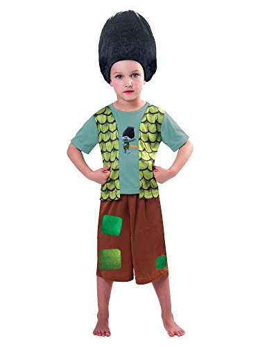 Troll Costume Uk (New Disney George Trolls Branch Fancy Dress Costume Outfit [3-4])