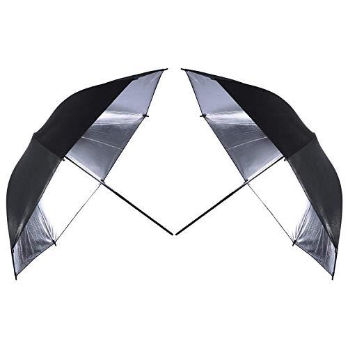 2 x 33 Double Layer Black/Silver Photo Studio Photography Reflector Umbrella softbox for Photo and Video Studio Shooting
