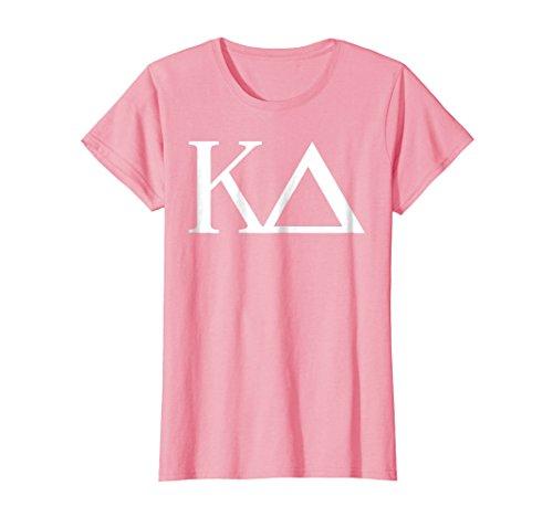 (Womens Kappa Delta Shirt College Sorority Fraternity Tee Medium Pink)