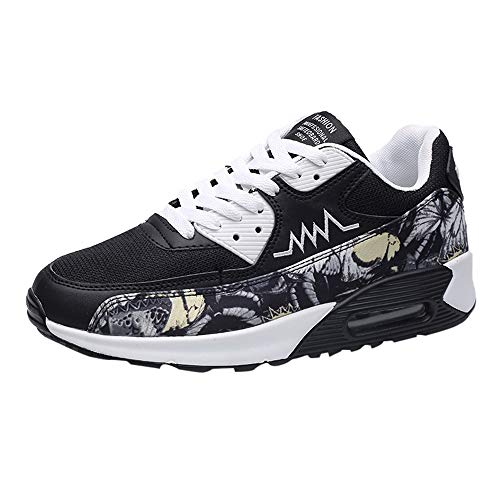 Caopixx Shoes for Men Casual Lace-Up Sport Cloth Net Shoe Wear Resistant Light Breathable Sneakers