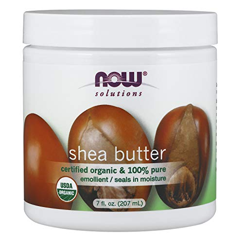 NOW Solutions, Organic Shea Butter, Certified Organic and 100% Pure, Emollient, Seals in Moisture, 7-Ounce - Organic Shea Butter