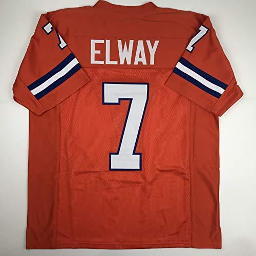 - Unsigned John Elway Denver Orange Throwback Custom Stitched Football Jersey Size XL New No Brands/Logos
