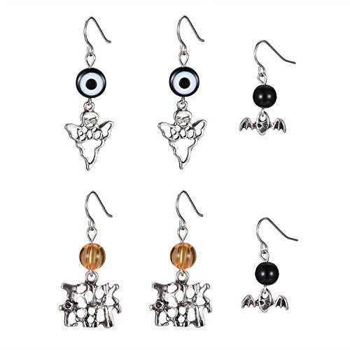 iWenSheng Halloween Earrings Spider Pumpkin