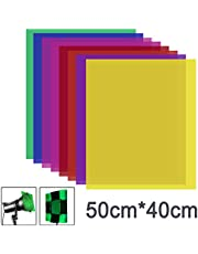 Neewer 8 Pieces Gel Color Filter with 8 Colors -16x20 inches Transparent Color Film Plastic Sheets, Correction Gel Light Filter for Photo Studio Strobe Flash, LED Video Light, DJ Light, etc.