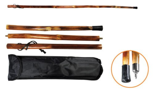 Generic YCUS150720-078 <8&10721> ry Casek Collapsib Stick Collapsible + 55'' 3Pc Wood Storage Hiking Walking Carry Case 55'' 3Pc Woo