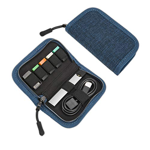 Carrying Case Compatible with JUUL, SummerPlus Travel Storage case for Your Pocket or Bag (Device not Included) (Blue)