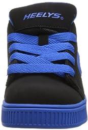 Heelys Straight Up Skate Shoe (Toddler/Little Kid/Big Kid), Black Royal, 6 M US Big Kid