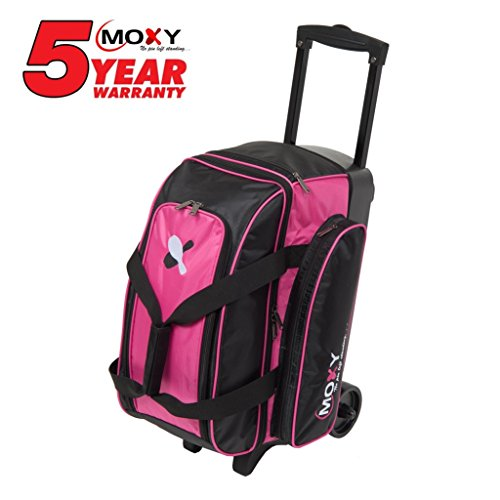 Moxy Bowling Products Double Roller Bowling Bag- Pink/Black