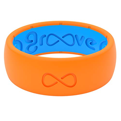 Orange Camo Rings - Groove Life - Silicone Ring for