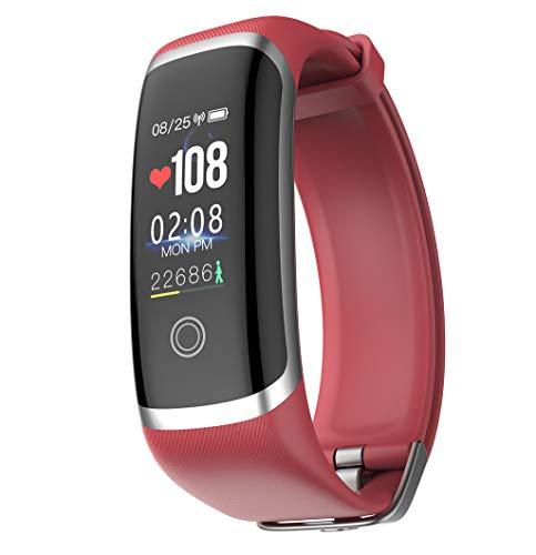 FEDULK Sports Bracelet Smart Watch Activity Heart Rate Tracker Fitness Work Out Waterproof Smart (Best Sony Waterproof Activity Trackers)