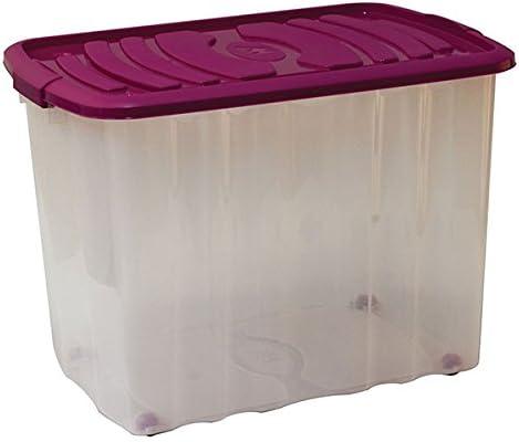 mondex pls529 – 27 – Caja de almacenaje con Tapa y Ruedas plástico ...