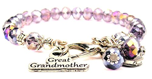 ChubbyChicoCharms Lavender Purple Crystal Great Grandmother Bracelet