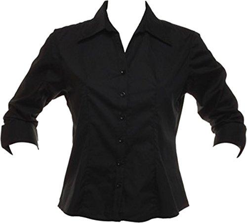 Bargear 3 cuello alto/4 de camiseta de manga camiseta de manga corta de trabajo elegante blusa para mujer de banquetas de
