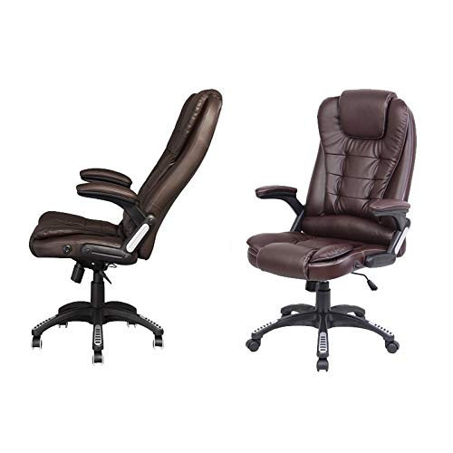 41642208cb21 Neo® Executive Leather Gaming Computer Desk Office Swivel Reclining Chair  or Massage Reclining Chair Available in 4 Colours (Recliner - Brown) - Buy  Online ...
