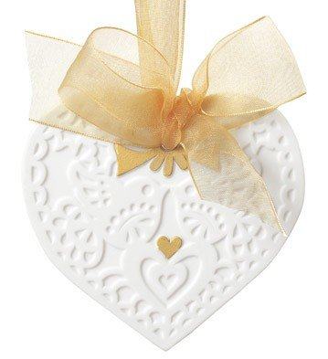Lladro - CHRISTMAS HEART ORNAMENT by Lladro