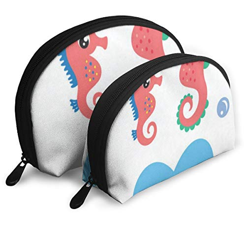 Makeup Bag Little Seahorse Love Baba Portable Shell Makeup Case For Girls Halloween Gift Pack - 2 -