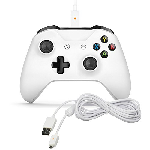 C5 Xbox One Polar White Charging Cable with Built in LED Indication Light - 10 Feet