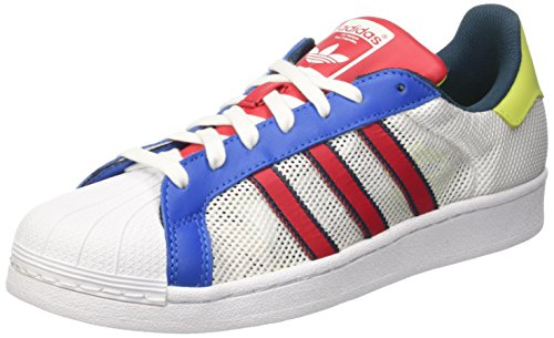 adidas Superstar, Baskets Mode Mixte Adulte Blanc (Footwear White/Bold Red/Utility Green)