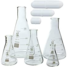 Glass Erlenmeyer Flask Sets, 3.3 Boro. Glass, Karter Scientific (Quantity and Accessory Variations)