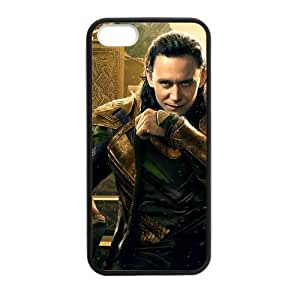 Custom Loki Thor The Dark World Apple Iphone 5S/5 Case Cover TPU Laser Technology Snap On Hard Plastic