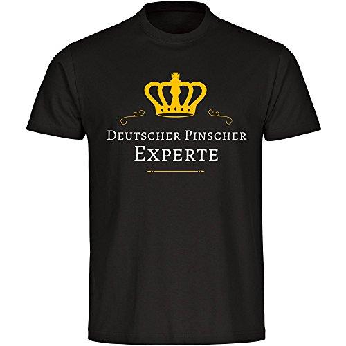 T-Shirt Deutscher Pinscher Experte schwarz Herren Gr. S bis 5XL