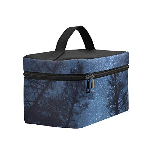Beautiful Night Sky Milky Way Trees Lunch Box Tote Bag Lunch Holder Insulated Lunch Cooler Bag For ()