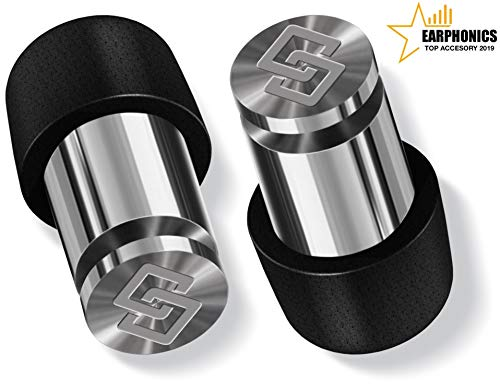 Soundox High Fidelity Ear Plugs for Ear Protection, Concerts, Loud Events | Free Bonus Keychain Case | Comfortable Earplugs for Noise Reduction| Safe Ears| (S,M,L) Sizes - High Polish Space Silver
