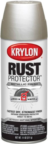 Satin Nickel Paint - Krylon K06930300 Rust Protector Metallic Paint, Satin Nickel