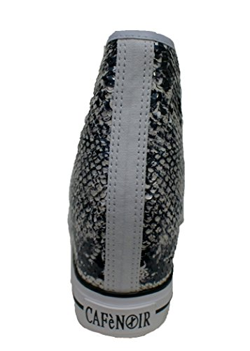 Mid Noir MULTIBIANCO Scarpe Paillettes Donna Bianco Cafè Zeppa CafèNoir DG911 sheakers awqRfR