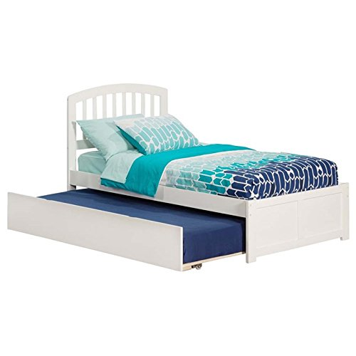 Rosebery Kids Twin Platform Bed with Trundle in White
