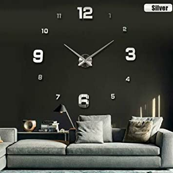 Fashion 3D wall clock clocks reloj de pared watch 3d diy Acrylic mirror Stickers Quartz Modern
