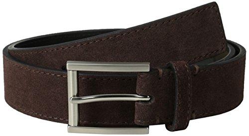 [Calvin Klein Men's 32 mm Belt with Harness Buckle, Brown, 40] (Leather Harness Buckle Belt)