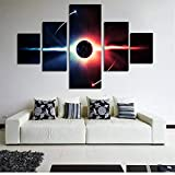 BFY 5pcs Modern Huge Wall Art Oil Painting On Canvas Sun Unframed Room Decor