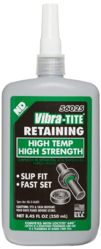 Vibra-TITE 560 High Temperature Retaining Compound, 250 ml Bottle, Green by Vibra-TITE