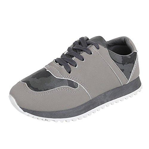 Ital-Design - Zapatillas de casa Mujer Gris - gris