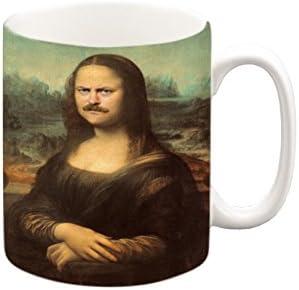Ron Swanson como Mona Lisa taza, taza de café, taza de té ...
