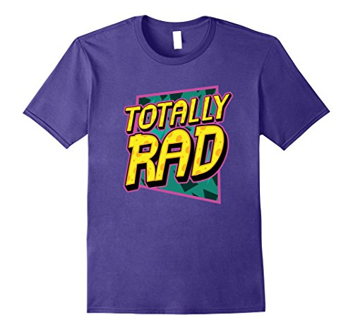 Classic 80s Clothing (Mens Totally Rad 1980s Retro Graphic Eighties 80s Party T-Shirt Small Purple)