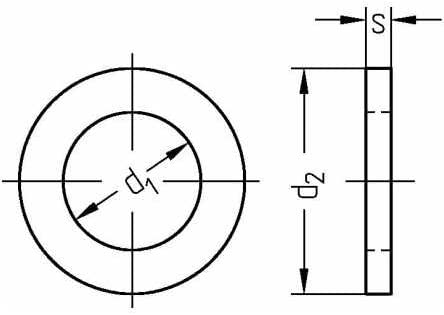 Reidl Scheiben f/ür Bolzen 25 mm Stahl galvanisch verzinkt 1 St/ück