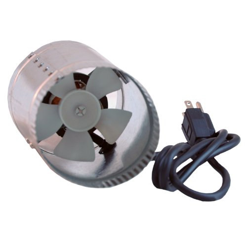 Lighthouse Hydro 100 CFM Duct Booster Inline Cool Air Blower Vent, 4-Inch