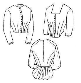 Victorian Blouses, Tops, Shirts, Vests 1871 Day Bodice Pattern $12.53 AT vintagedancer.com