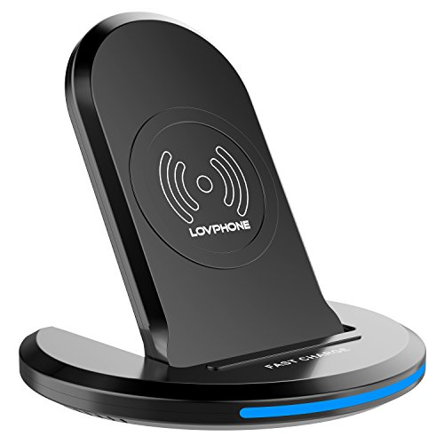 LOVPHONE Fast Wireless Charger,QI Wireless Charging Pad Stand