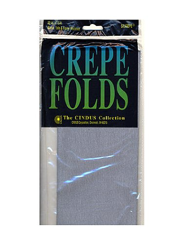 PACK OF 6 Cindus Crepe Paper Folds gray