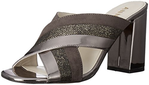 Anne Klein Women's Wileta Fabric Mule, Dark Grey, 7.5 M - Klein Mules Anne